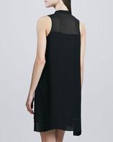 Cluny Sleeveless Chiffon Shirt Dress