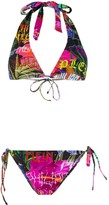 Philipp Plein crystal embellished bikini