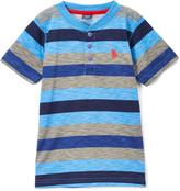 U.S. Polo Assn. Regatta & Turquoise Stripe Henley Tee - Toddler & Boys