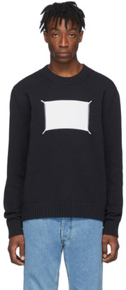 Maison Margiela Black and Off-White Memory Of Label Sweater