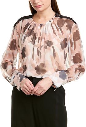 Jason Wu Sheer Chiffon Silk Blouse