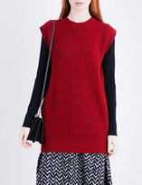 Max Mara Alpe oversized wool and cashmere-blend top
