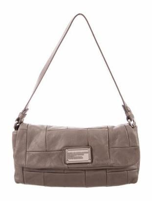 Marc Jacobs Leather Patchwork Shoulder Bag Silver
