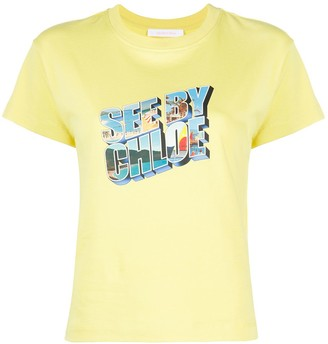 See by Chloe graphic logo print T-shirt