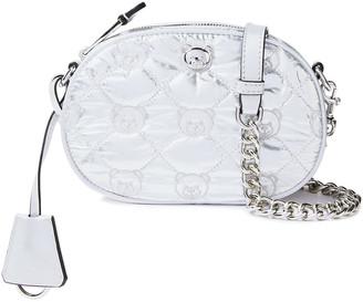 Moschino Embellished Quilted Shell Shoulder Bag