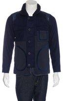 08sircus 08 Sircus Lambskin-Trimmed Wool Jacket