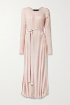 Thumbnail for your product : Proenza Schouler Belted Pleated Silk And Cashmere-blend Maxi Dress - Blush
