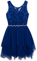 Rare Editions Sequin-Detail Party Dress, Big Girls (7-16)