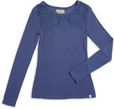 Lucky Brand Girls 7-16 Lace Trim Top