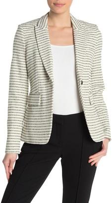 Veronica Beard Cutaway Tweed Dickey Jacket