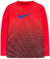 Nike Little Boys' Dri-FIT Long-Sleeve Metric Face Graphic-Print T-Shirt