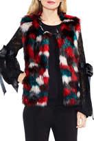 Vince Camuto Multicolor Faux Fur Vest