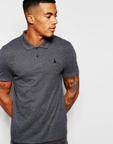 Asos Muscle Pique Polo With Embroidery In Gray