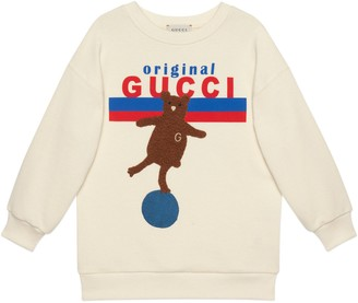 Gucci Children's 'Original Gucci' print and bear sweatshirt