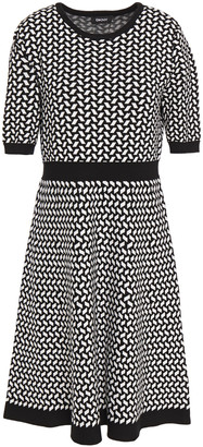 DKNY Jacquard-knit Dress