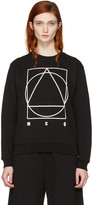 McQ by Alexander McQueen Black Logo Glyph Icon Sweatshirt