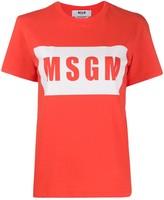 MSGM graphic logo-print T-shirt