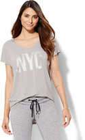 New York & Co. Lounge - Hooded Tunic Logo T-Shirt