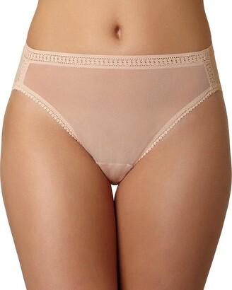 OnGossamer Women's Plus-Size Gossamer Mesh Plus Hi Cut Brief Panty