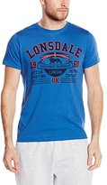 Lonsdale London Men's Long-Sleeved Shirt Cami T-Shirt Commodes - - X-Large