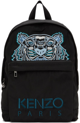 Kenzo Black Kampus Tiger Backpack