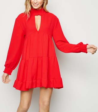 New Look Honey Behave Choker Neck Dress