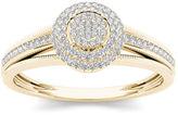MODERN BRIDE 1/5 CT. T.W. Diamond 10K Yellow Gold Engagement Ring