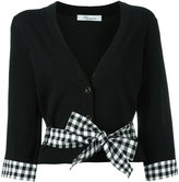 Blumarine bow detail cardigan - women - Cotton/Polyamide/Spandex/Elastane/Viscose - 42