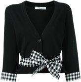 Blumarine bow detail cardigan - women - Cotton/Polyamide/Spandex/Elastane/Viscose - 44