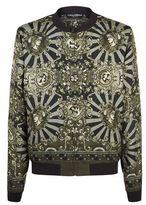 Dolce & Gabbana Baroque Print Bomber Jacket