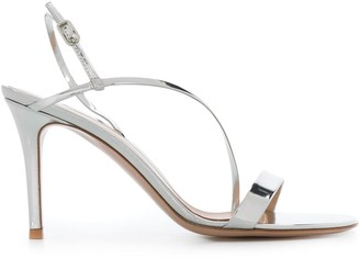 Gianvito Rossi Metallic Sheen Sandals