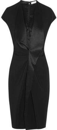 Givenchy Dress In Black Satin-Trimmed Stretch-Cady