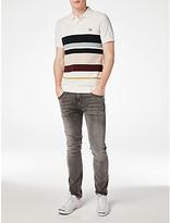 Fred Perry Multi Stripe Piqué Polo Shirt, Snow White