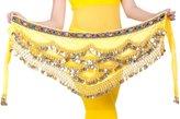 Aivtalk 328 Coins Women Belly Dance Dancing Hip Scarf Wrap Puple