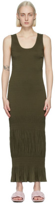 J.W.Anderson Khaki Fitted Tank Dress