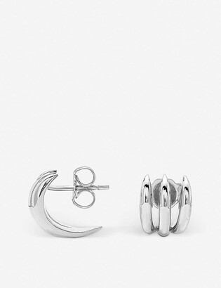 Missoma Claw sterling silver stud earrings