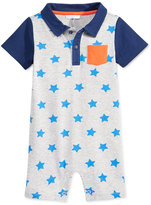 First Impressions Baby Boys' Star-Print Polo Sunsuit, Only at Macy's