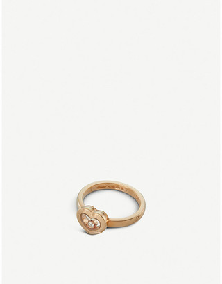 Chopard Happy Diamonds Icons 18ct rose-gold and diamond ring