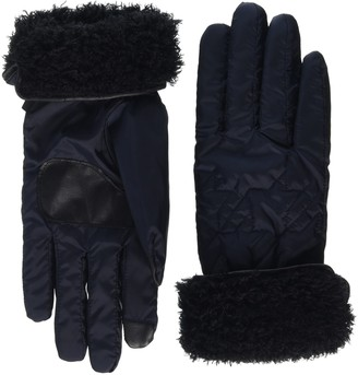 Echo New York Women's Echo Touch Qlted Hndstooth Glv Gloves