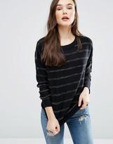Brave Soul Metallic Stripe Sweater
