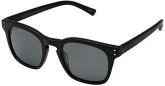 Von Zipper VonZipper Morse Polarized (Black Satin/Wild Vintage Grey Polar) Athletic Performance Sport Sunglasses