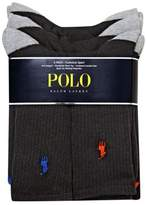 Polo Ralph Lauren Heel Toe and Arch Support Crew Socks Pack