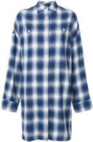R 13 long plaid shirt - women - Cotton - XS