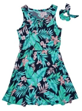 Epic Threads Big Girls Tropical Floral Dress