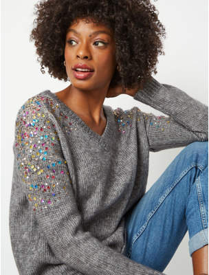 George Grey Sequin Shoulder Jumper