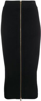 Balmain High-Waisted Zip Pencil Skirt