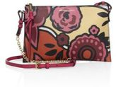 Burberry Peyton Floral-Print Leather Clutch