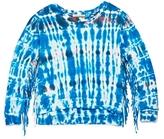 Vintage Havana Girls' Tie Dye Fringe Sweatshirt - Big Kid