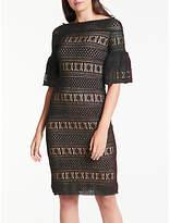 Max Studio Lace Bardot Dress, Black