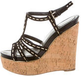 Christian Dior Suede Wedge Sandals